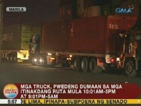 UB: 8-day moratorium sa truck ban, simula na ngayong araw