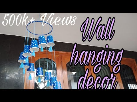 Awesome wall hanging decor with paper glasses|home decoration ideas using coffee cup|CraftyMagic HSN