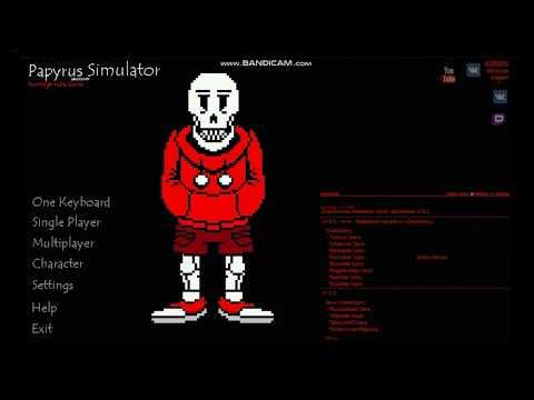 Sans Simulator Battle #1 UnderSwap Papyrus