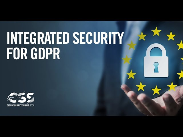 Integrated Security for GDPR