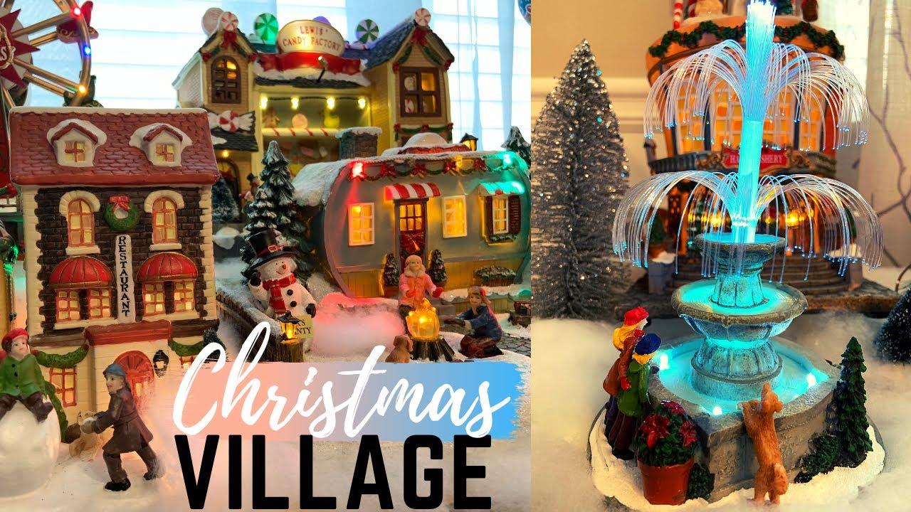 A Christmas Village 2021 Christmas Village Display How To Build Christmas Village Christmas Decor 2021 Youtube