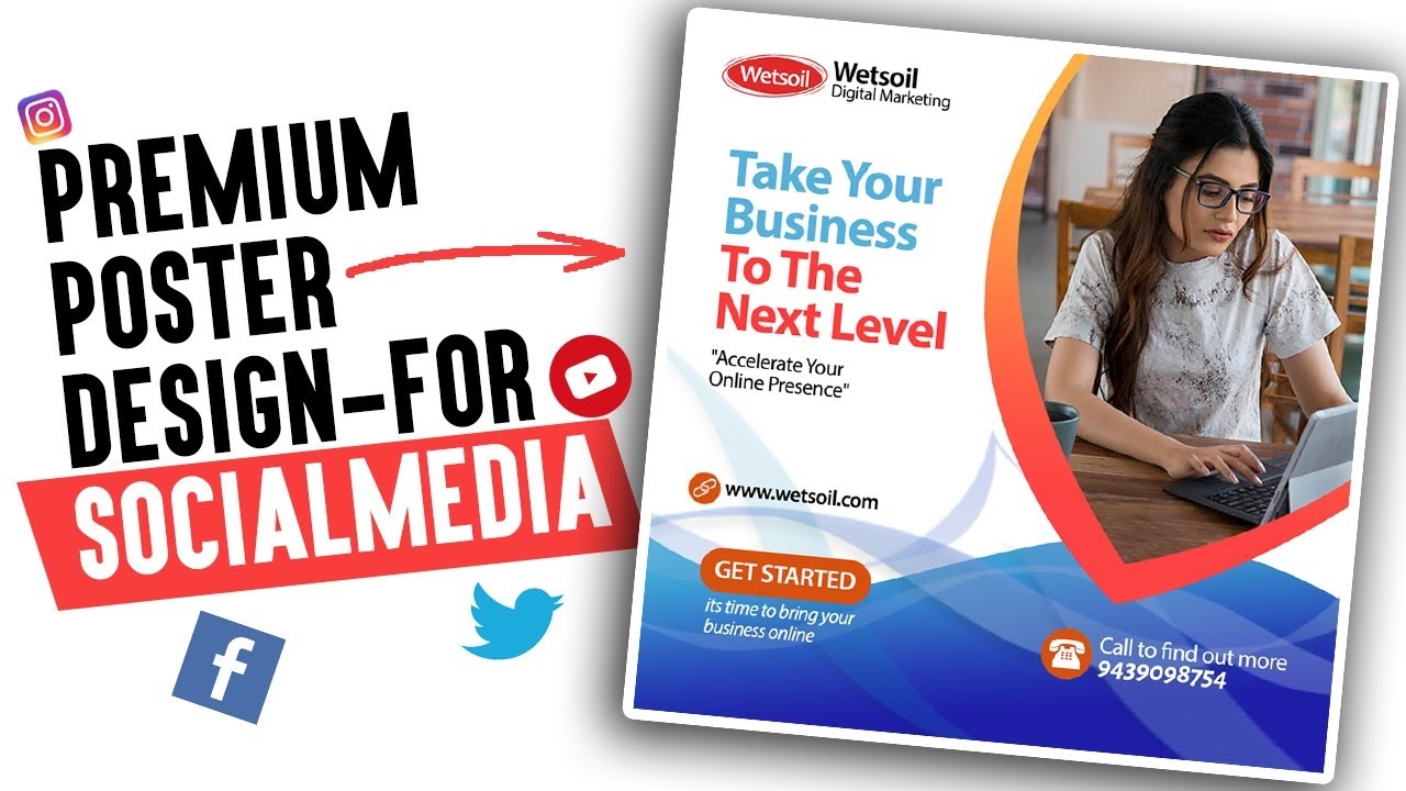 premium poster design for social media