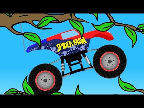 super---man-monster-truck-|-super-hero-_-cartoons-for-kids---bajki