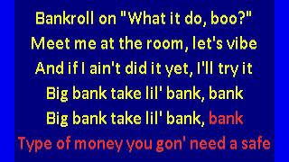 YG ft. 2 Chainz, Big Sean & Nicki Minaj - Big Bank (karaoke)