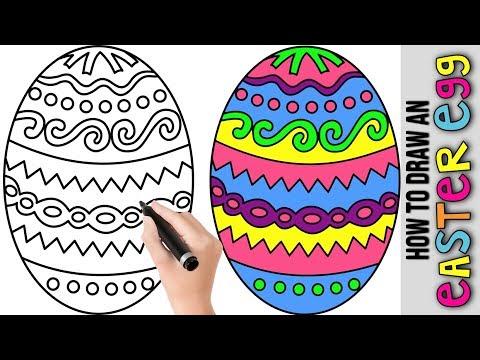 How To Make A Colorful Egg For Easter 🐰 Drawing An Easter Egg 🐰 Easter Egg Hunt 🐰 Egg Decoration