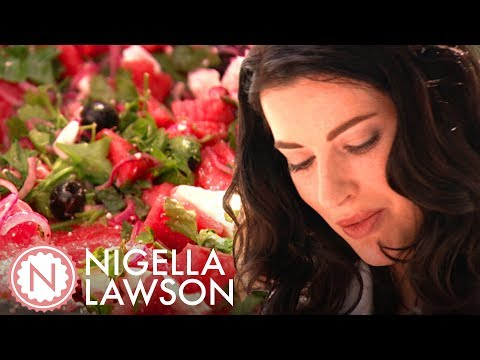 Nigella Lawson's Watermelon, Feta and Black Olive Salad | Forever Summer with Nigella