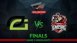 Optic Gaming vs Team Empire ROG Masters 2017 Grand Finals Game 3 Short Highlights Dota 2