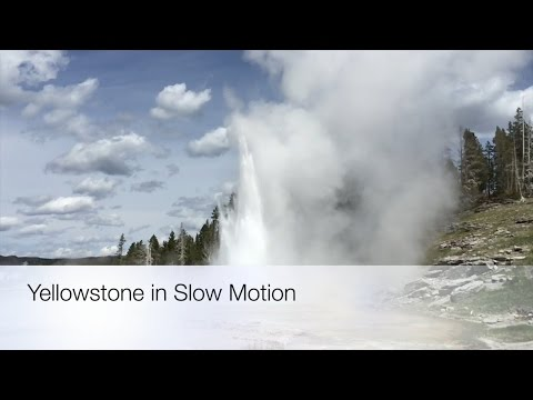 Slow Motion Geysers, Hot Springs and Waterfalls in Yellowstone