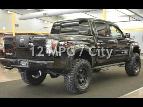 2012 nissan titan pro 4x off road lifted 37s low miles only 24k crew for sale in milwaukie or. Black Bedroom Furniture Sets. Home Design Ideas