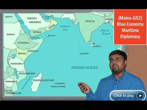 IR1/P3: Maritime Diplomacy, Blue Economy, Indian Ocean Rim Association for GS2