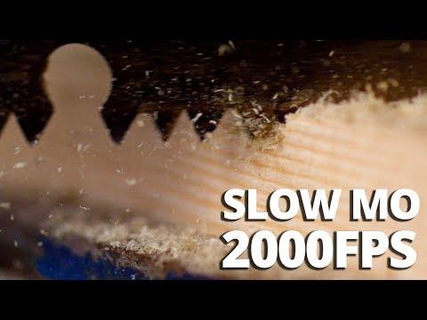 Hand Saw Cutting Wood In Macro 2000fps SLOW MO