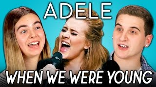 ADELE - WHEN WE WERE YOUNG (REACT: Lyric Breakdown)