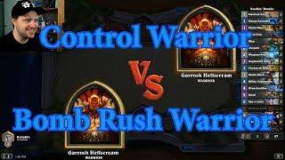 Bomb Rush Warrior vs Control Warrior | Hearthstone