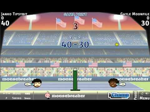 daa32452c9eb5 Sports heads Tennis open (flash game  4) - YouTube