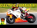 210kW Racing Electric Yamaha R1 vs Petrol Bikes (race track) ? Ripperton DIY Electric Motorcycle