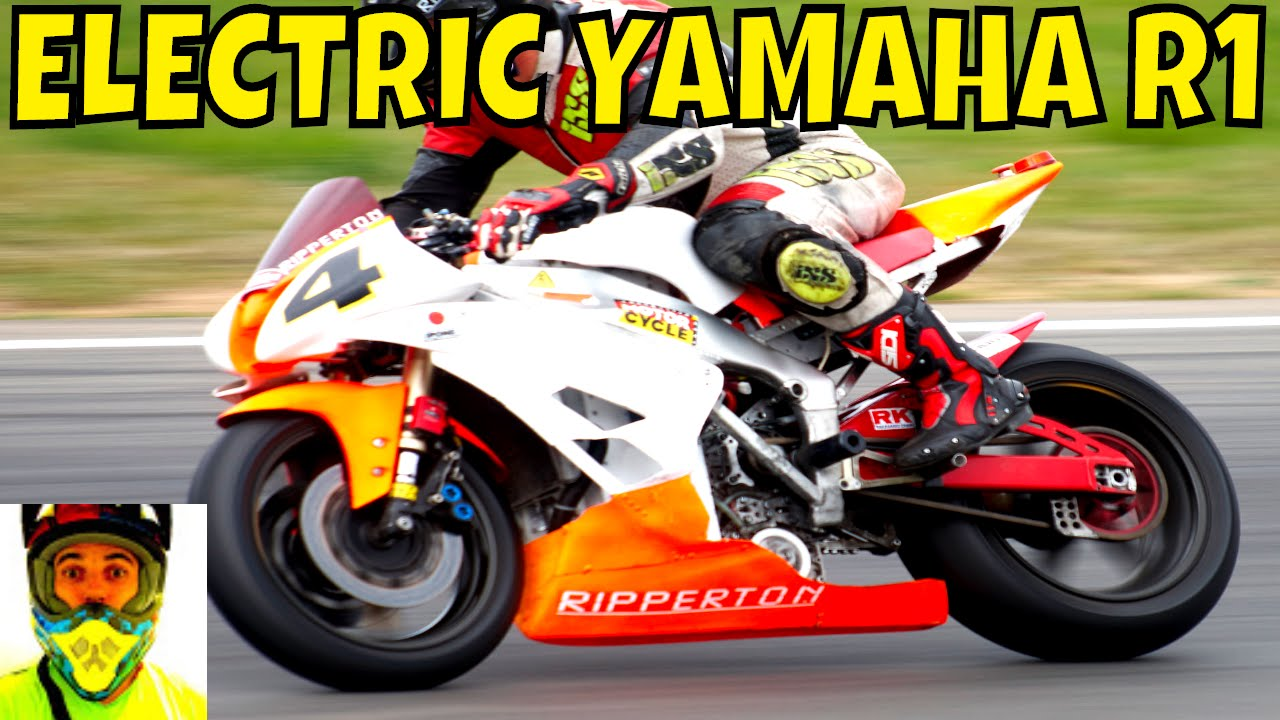 210kw Racing Electric Yamaha R1 Vs Petrol Bikes Race Track Ripperton Diy Motorcycle