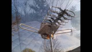 BEST Long Distance UHF/VHF Amplified TV Antenna with Rotor