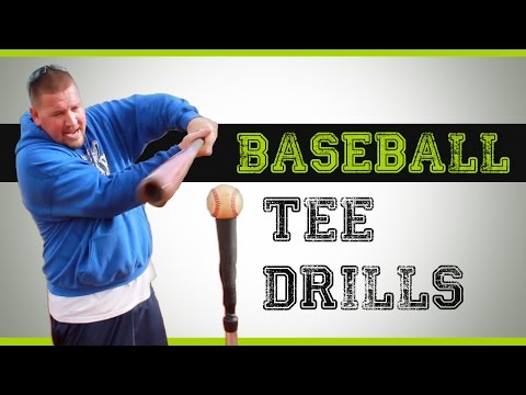 Baseball Tee Drills - Hitting Drills you can do with a batting tee