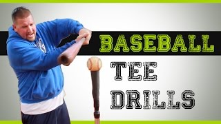 baseball tee drills hitting drills you can do with a batting tee