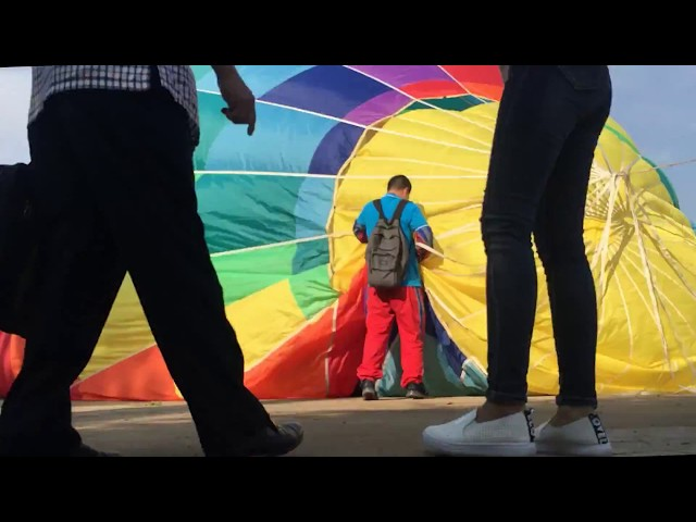 Diễn tập bay khinh khí cầu tại Đầm Sen