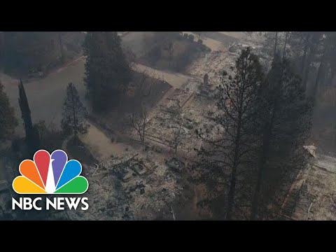 Watch Devastation Left Behind From Wildfires In Paradise, California | NBC News