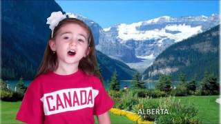 3 yr. old Sings Oh Canada!