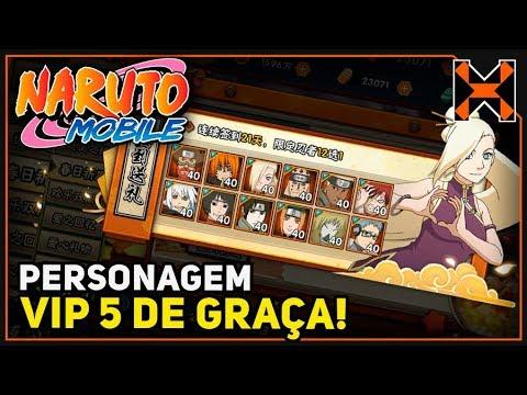 Naruto Mobile: MAIS PERSONAGEM VIP 5 DE GRAÇA!