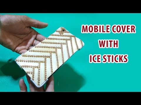How To Make Smartphone Case From Ice Cream Stick | Smart Phone Cover | Ice Cream Stick Craft