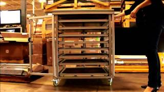Tool Cabinet With Detent Open And Closed - Rexroth Aluminum Framing Series