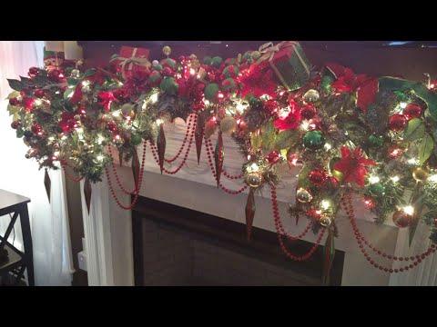 Christmas 2017- Mantle/Window decor Family Room-Part 9 in Series 2017