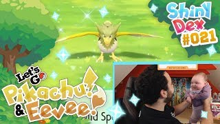 MY DAUGHTER FOUND A SHINY IN POKÉMON LET'S GO PIKACHU AND EEVEE! SHINY SPEAROW!