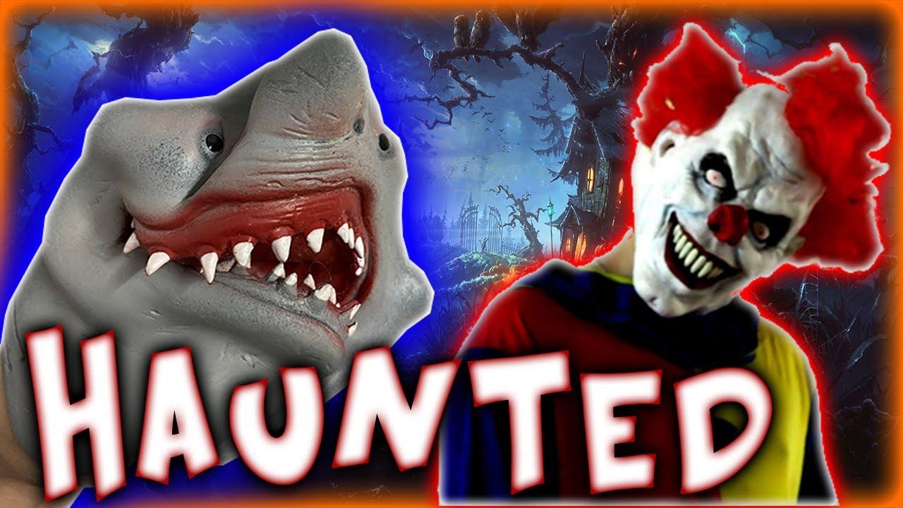 SHARK PUPPETS HAUNTED HALLOWEEN HAYRIDE!!!!!