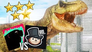 RACE TO 5 STARS! BIS VS GAMINGBEAVER! | Jurassic Park: Operation Genesis Competition