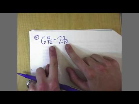 Adding and Subtracting Fractions (regrouping) - YouTube