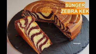 Sünger Zebra Kek / Şimdiye Kadar Yaptığınız Kekleri Unutun :) / Sponge Cake