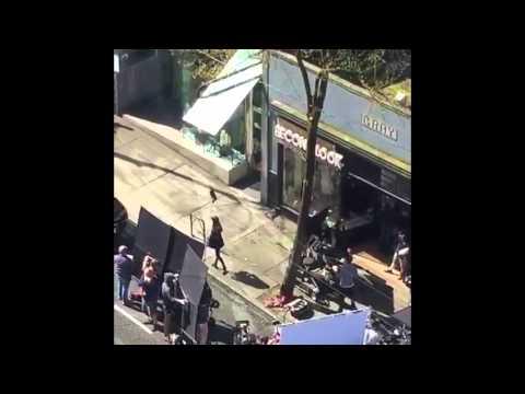 FIFTY SHADES DARKER BTS SALON SCENE APRIL 4, 2016