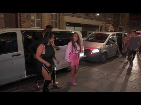 Chloe Ferry & Sam Gowland  filming Geordie Shore in Newcastle