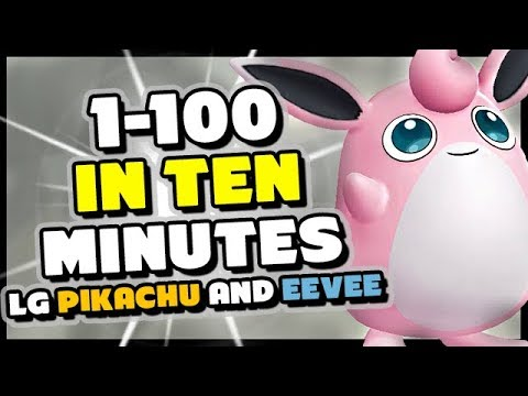 Can you level from 1-100 in 10 minutes in Pokemon Lets Go Pikachu and Eevee?