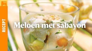 Meloen met sabayon