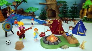 Playmobil Summer Fun Campground with Camp Fire Playset Build and Play Toys For Kids