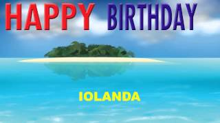 Iolanda  Card Tarjeta - Happy Birthday