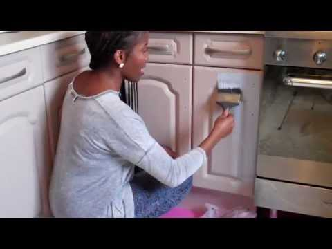 Annie Sloan Chalk Paint Kitchen Cabinet Cupboard Makeover And On Tiles Part 1
