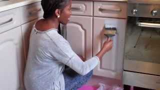 Annie Sloan Chalk Paint Kitchen Cabinet/cupboard Makeover And Chalk Paint On Kitchen Tiles Part 1