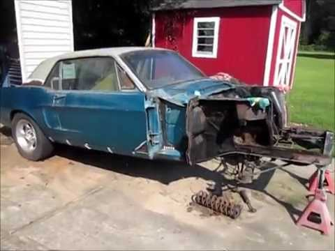 1968 mustang frame rust repair youtube - Mustang Frame