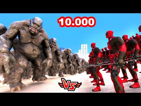 10.000 DEV ORK VS DEADPOOL 😱 - Süper Kahramanlar