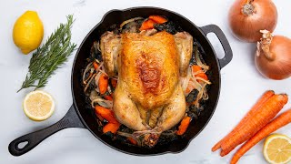 One-Pan Whole Roasted Chicken & Veggies