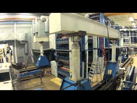 St. Albert Gazette press time lapse and newspaper production