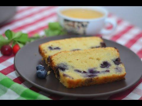 Творожный кекс с вишней