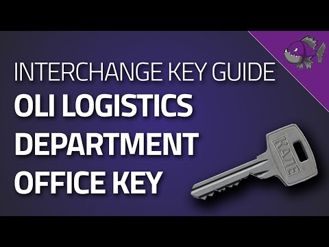 Key To OLI Logistics Department Office - Key Guide - Escape From Tarkov