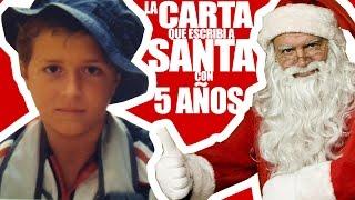 La carta que escribí a Santa Claus CON 5 AÑOS!!